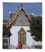 Wat Benchamabophit Monks Residence Dthb187 Fleece Blanket