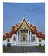 Wat Benchamabophit Ubosot Dthb279 Fleece Blanket