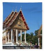 Wat Kan Luang Ubosot Dthu179 Fleece Blanket