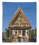 Wat Kan Luang Ubosot Gate Dthu181 Fleece Blanket