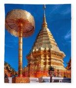Wat Phrathat Doi Suthep Fleece Blanket