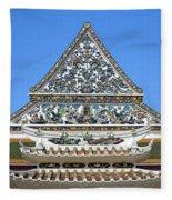 Wat Ratcha Orasaram Temple Gate And Ubosot Gable Dthb858 Fleece Blanket