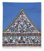 Wat Ratcha Orasaram Ubosot Gable Dthb427 Fleece Blanket
