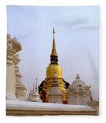 Wat Suan Dok Royal Cemetery  Fleece Blanket