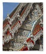 Wat Suan Phlu Ubosot Angel Gable Finials Dthb227 Fleece Blanket