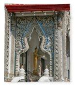 Wat Suan Phlu Ubosot East Portico Dthb1133 Fleece Blanket