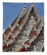 Wat Suan Phlu Ubosot Gable Dthb1132 Fleece Blanket