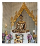 Wat Traimit Golden Buddha Dthb964 Fleece Blanket