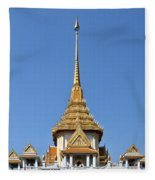 Wat Traimit Phra Maha Mondop Of The Golden Buddha Dthb956 Fleece Blanket