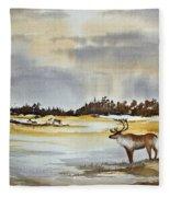 Watching The Herd Fleece Blanket