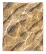 Water And Sand Ripples Fleece Blanket