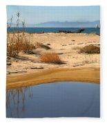 Water By The Ocean Fleece Blanket