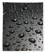 Water Drops On Black Metalica. Business Card. Invitation. Sympathy Note. Fleece Blanket