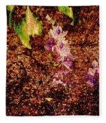Water Flowers Vietnam Fleece Blanket
