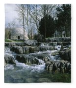 Water Flowing In A Garden, St. Fiachras Fleece Blanket