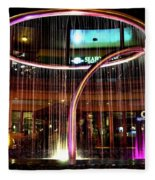 Water Fountain With Circle Seven Shape Fleece Blanket
