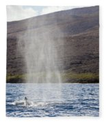 Water From A Whale Blowhole Fleece Blanket