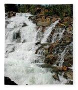 Water In Motion Glen Alpine Falls Fleece Blanket