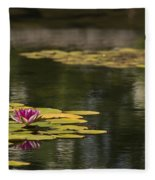 Water Lilies And Lily Pads Fleece Blanket