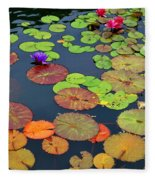 Water Lilies I Fleece Blanket
