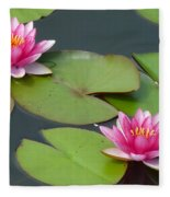 Water Lillies Fleece Blanket