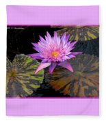 Water Lily Magic Fleece Blanket