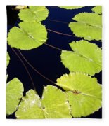 Water Lily Pads And Bloom Fleece Blanket