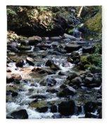 Water Over Rocks Fleece Blanket