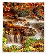 Water Over The Rocks Fleece Blanket