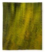 Water Reflection Abstract Autumn 1 A Fleece Blanket