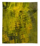 Water Reflection Abstract Autumn 1 D Fleece Blanket