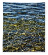 Water Ripples And Reflections On Lake Huron Fleece Blanket