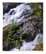 Water Running Down Ledge Fleece Blanket