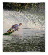 Water Skiing 14 Fleece Blanket