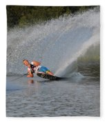 Water Skiing 15 Fleece Blanket