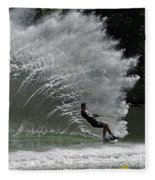 Water Skiing 20 Fleece Blanket