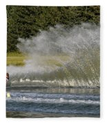 Water Skiing 4 Fleece Blanket