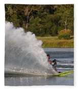 Water Skiing 6 Fleece Blanket