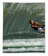Water Skiing Magic Of Water 1 Fleece Blanket