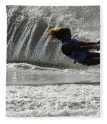 Water Skiing Magic Of Water 12 Fleece Blanket