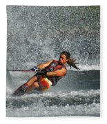 Water Skiing Magic Of Water 15 Fleece Blanket