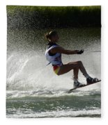 Water Skiing Magic Of Water 16 Fleece Blanket