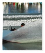 Water Skiing Magic Of Water 17 Fleece Blanket