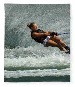 Water Skiing Magic Of Water 2 Fleece Blanket
