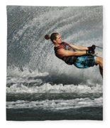 Water Skiing Magic Of Water 23 Fleece Blanket