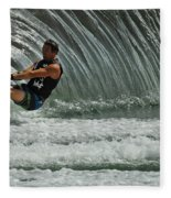 Water Skiing Magic Of Water 3 Fleece Blanket
