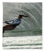 Water Skiing Magic Of Water 32 Fleece Blanket