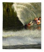 Water Skiing Magic Of Water 33 Fleece Blanket