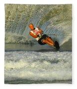Water Skiing Magic Of Water 4 Fleece Blanket