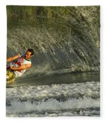 Water Skiing Magic Of Water 8 Fleece Blanket
